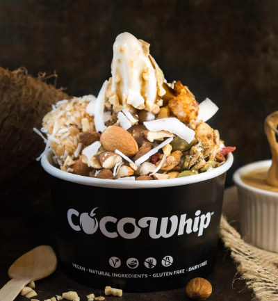 An image of a Cocowhip creation with trail mix